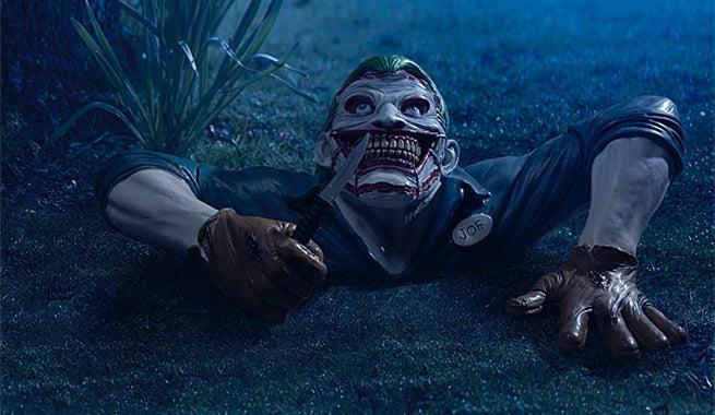 Death Of The Family Joker Garden Ornament Revealed