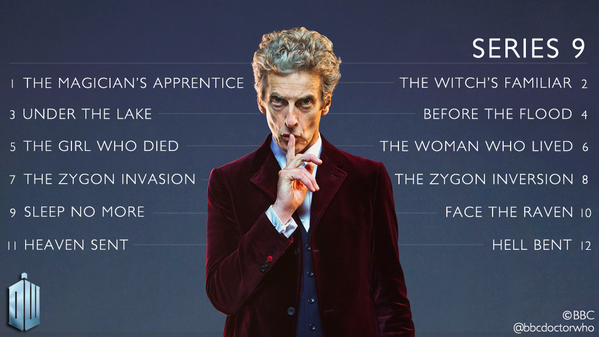 Revealed the complete list of episode titles for doctor who series 9