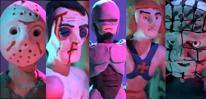 New Music Video Imagines 80's Action Heroes In Clay Form