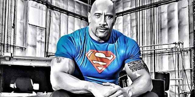 the-rock-superman-t-shirt
