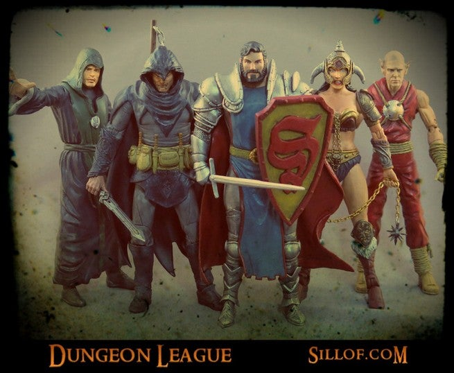 Justice League Figures Meet Dungeons Dragons