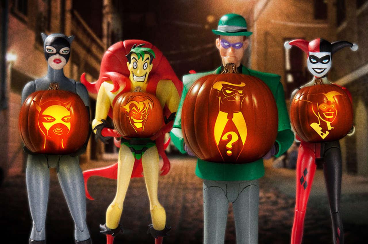 Wa walking dead pumpkin stencil - Dc Comics Releases Patterns To Carve Batman The Animated Series Pumpkins