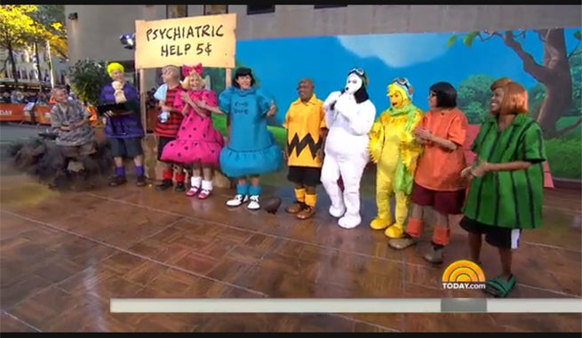 today cast dresses as peanuts characters for halloween