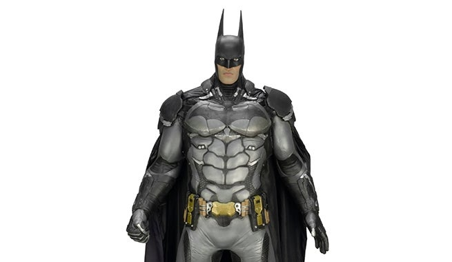 lifesize arkham knight batman replica figure revealed
