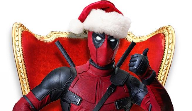 Deadpool Movie Christmas Standee Revealed