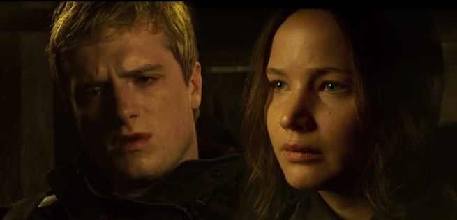 Peeta Katniss Reconnect In New Clip From The Hunger Games