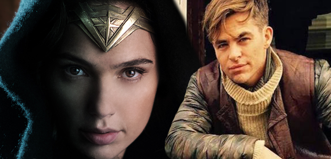 Chris Pine Escorting Wonder Woman Through A Crowd In New Set Video