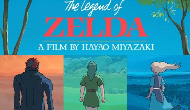the legend of zelda imagined as a studio ghibli movie