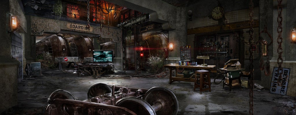 The Flash Concept Art Of Zoom S Lair