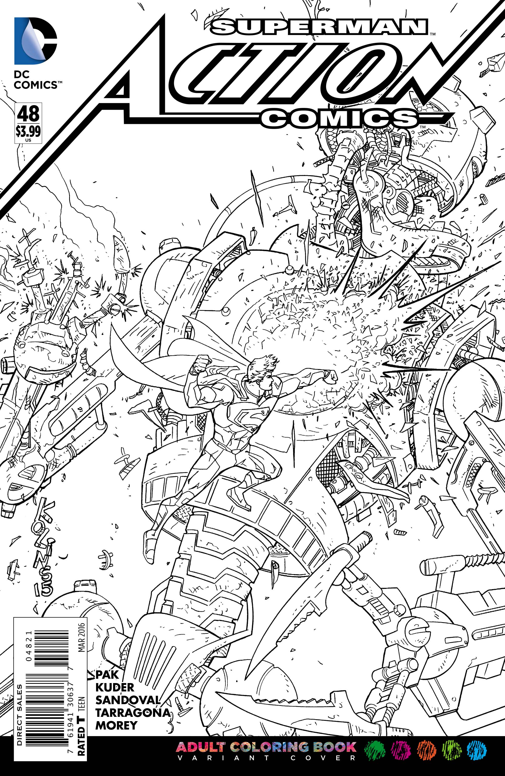 dc comics adult coloring book variant covers