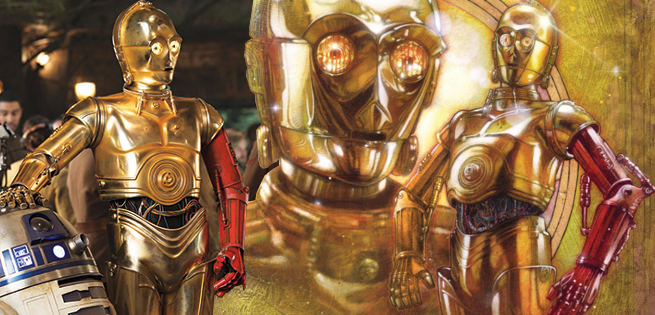 Details On C-3PO's Red Arm In Star Wars: The Force Awakens Book
