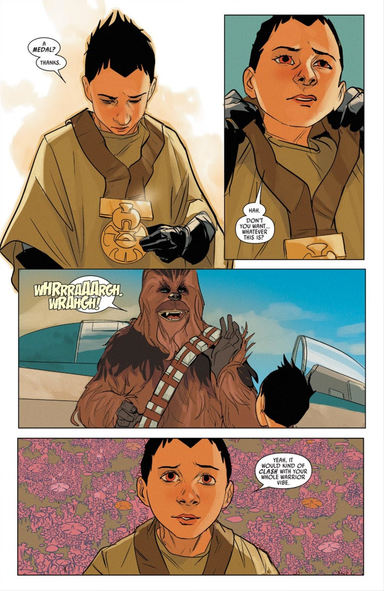 what a wookiee chewbaccas missing medal from star wars