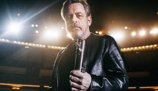 mark hamill teases star wars evolution of the lightsaber duel