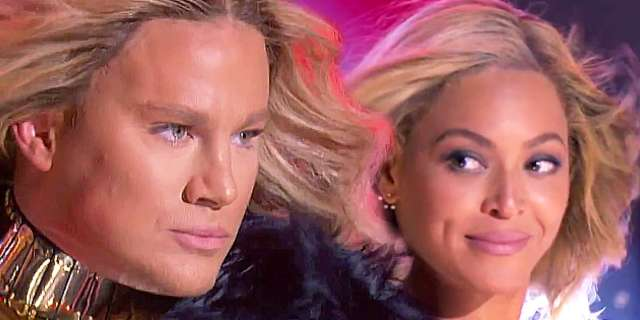 watch beyonce join channing tatum for run the world on lip sync battle
