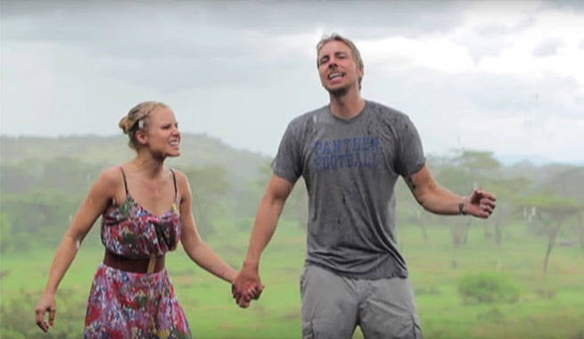 Kristen Bell And Dax Shephard Rock Out In Self-Made Africa Music Video
