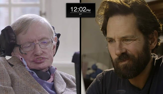 Paul Rudd Takes On Stephen Hawking In Quantum Chess