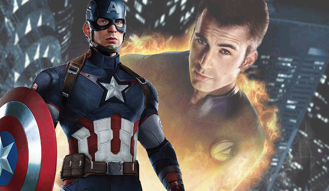 Chris Evans Says He'd Want To Fight As Captain America Along Side The Human Torch