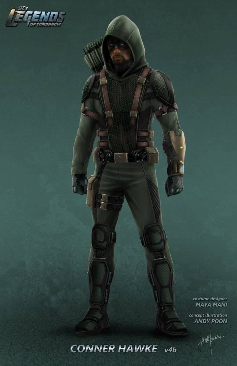 DCs Legends Of Tomorrow Star City 2046 Concept Art For Oliver Queen amp Connor Hawke