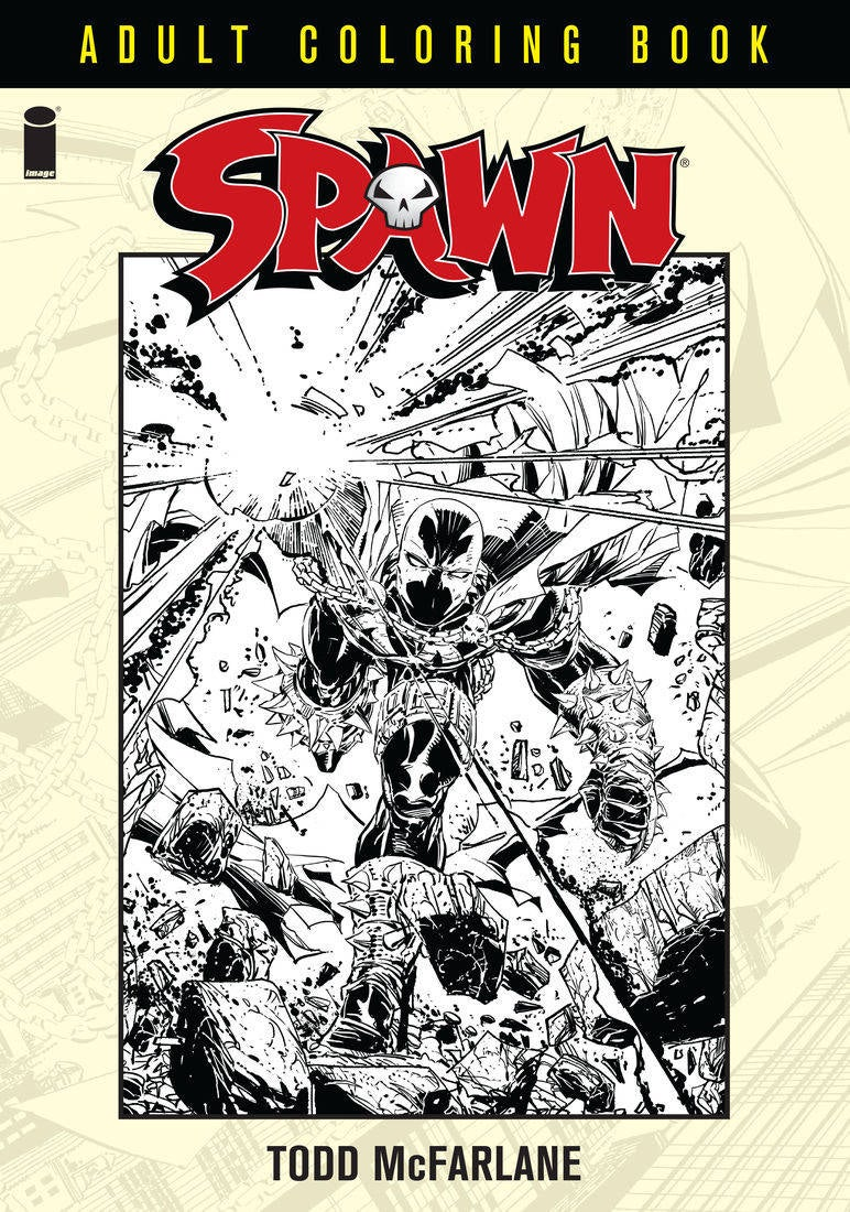 image comics reveals spawn coloring book preview pages