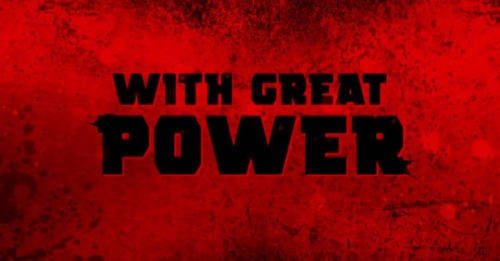 With Great Power