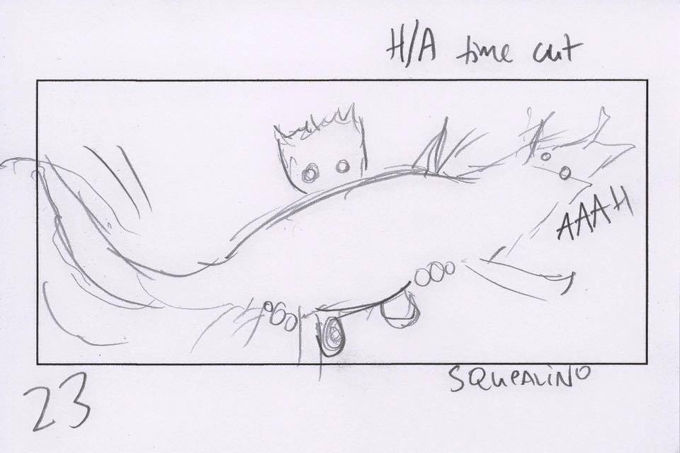 James Gunn Shares Guardians Of Galaxy Vol  2 Baby Groot Scene Sketch