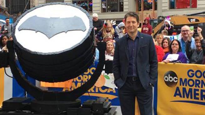 Batman V Superman Bat-Signal Built Out Of 75,000 LEGO Bricks