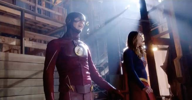 Grant Gustin Shares Behind-the-Scenes from Supergirl Crossover