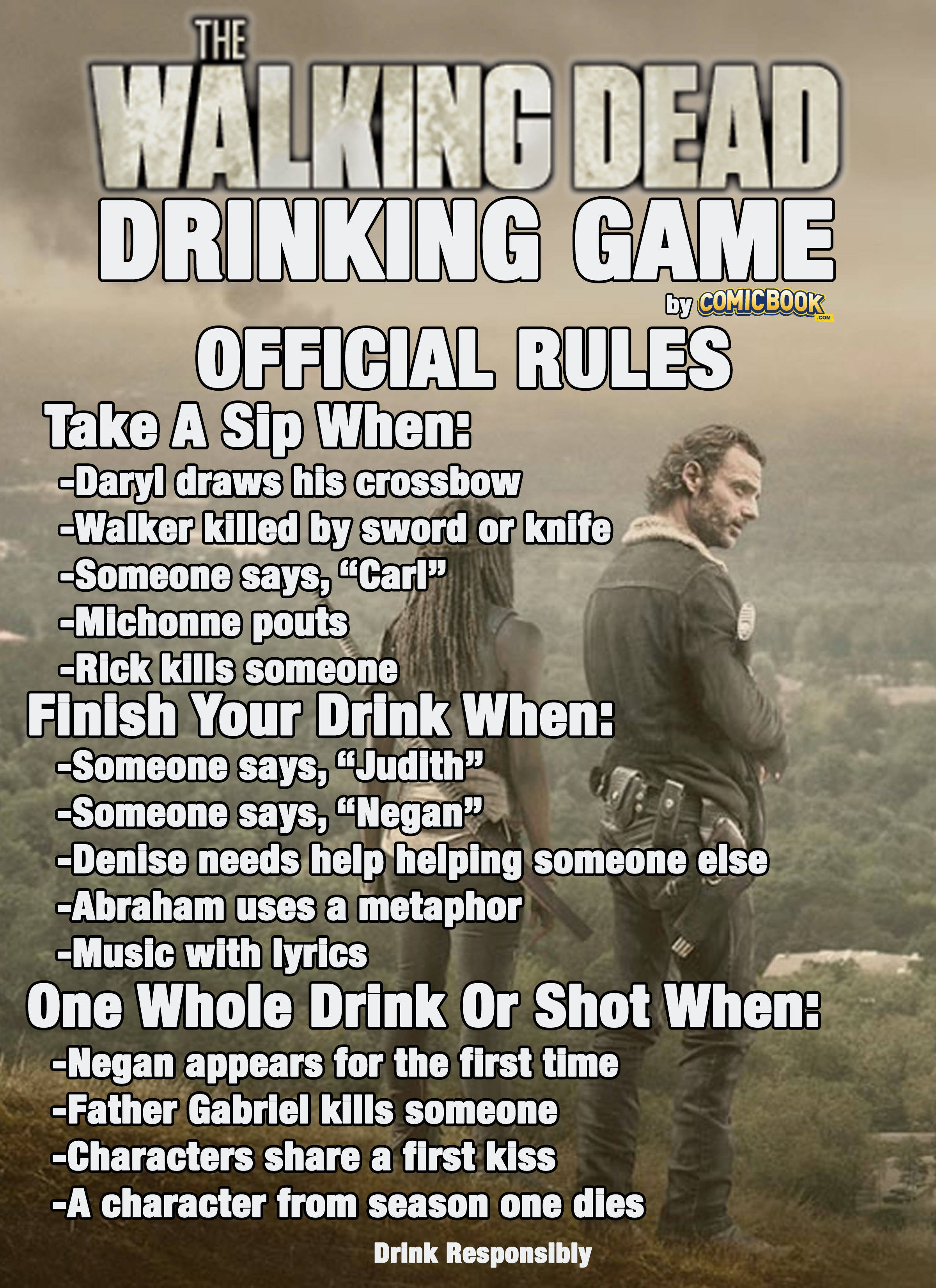 The Walking Dead Season 6 Drinking Game | Comicbook.com