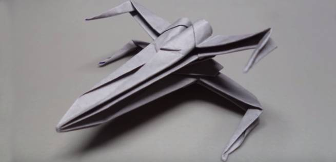 Star Wars Make Your Own X Wing Origami