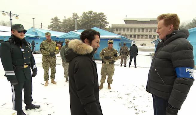 The Walking Dead's Steven Yeun Appears On CONAN In North Korea