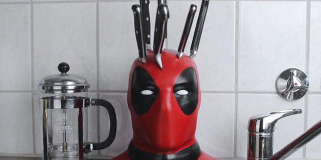 Fan Builds Deadpool Knife Block To Marvelize Kitchen