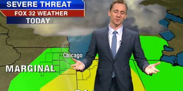 Tom Hiddlestone blames Thor for bad weather