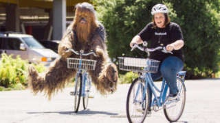 Chewbacca Mom Bike Ride