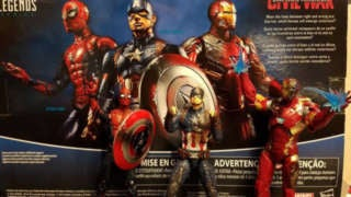 SpiderMan Civil War Figure Set