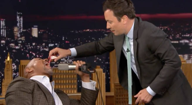 The Rock Eats Candy For The First Time Since 1989 With Jimmy Fallon