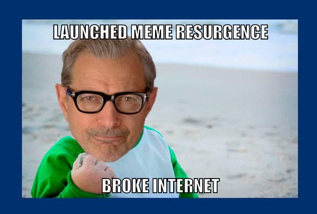 Jeff Goldblum Invades Your Favorite Memes