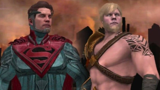 Game provides a closer look at superman and aquaman from injustice 2