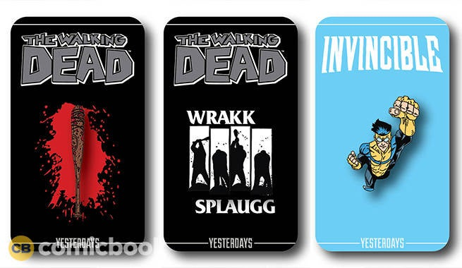 New Skybound The Walking Dead, Invincible, U0026 More SDCC Exclusive Pins  Revealed