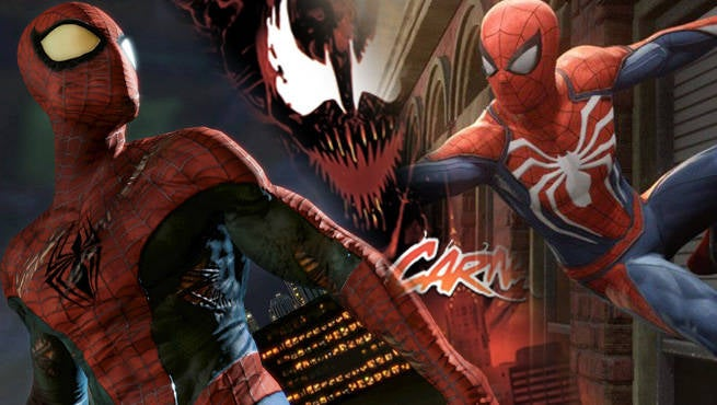 spiderman games through the years from maximum carnage