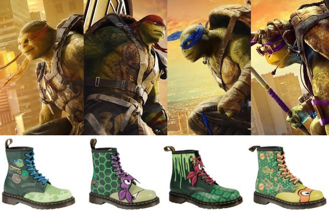 teenage mutant ninja turtles dr martens boots revealed