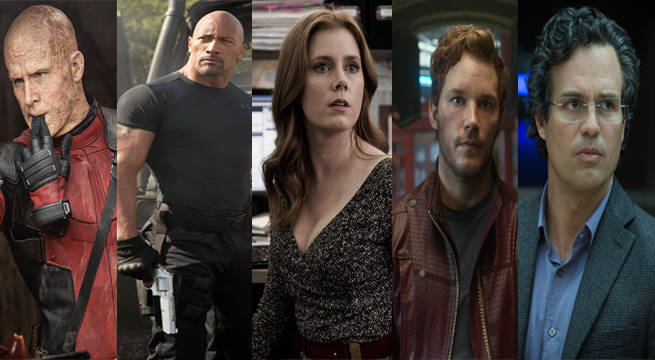 The Rock, Amy Adams, Chris Pratt, Mark Ruffalo & Ryan Reynolds Getting Stars On Hollywood Walk Of Fame