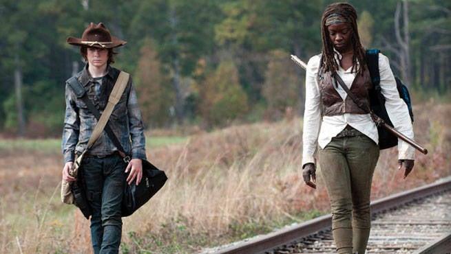 Walking Dead Michonne Carl