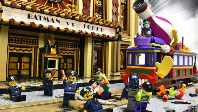 Batman v Joker Lego