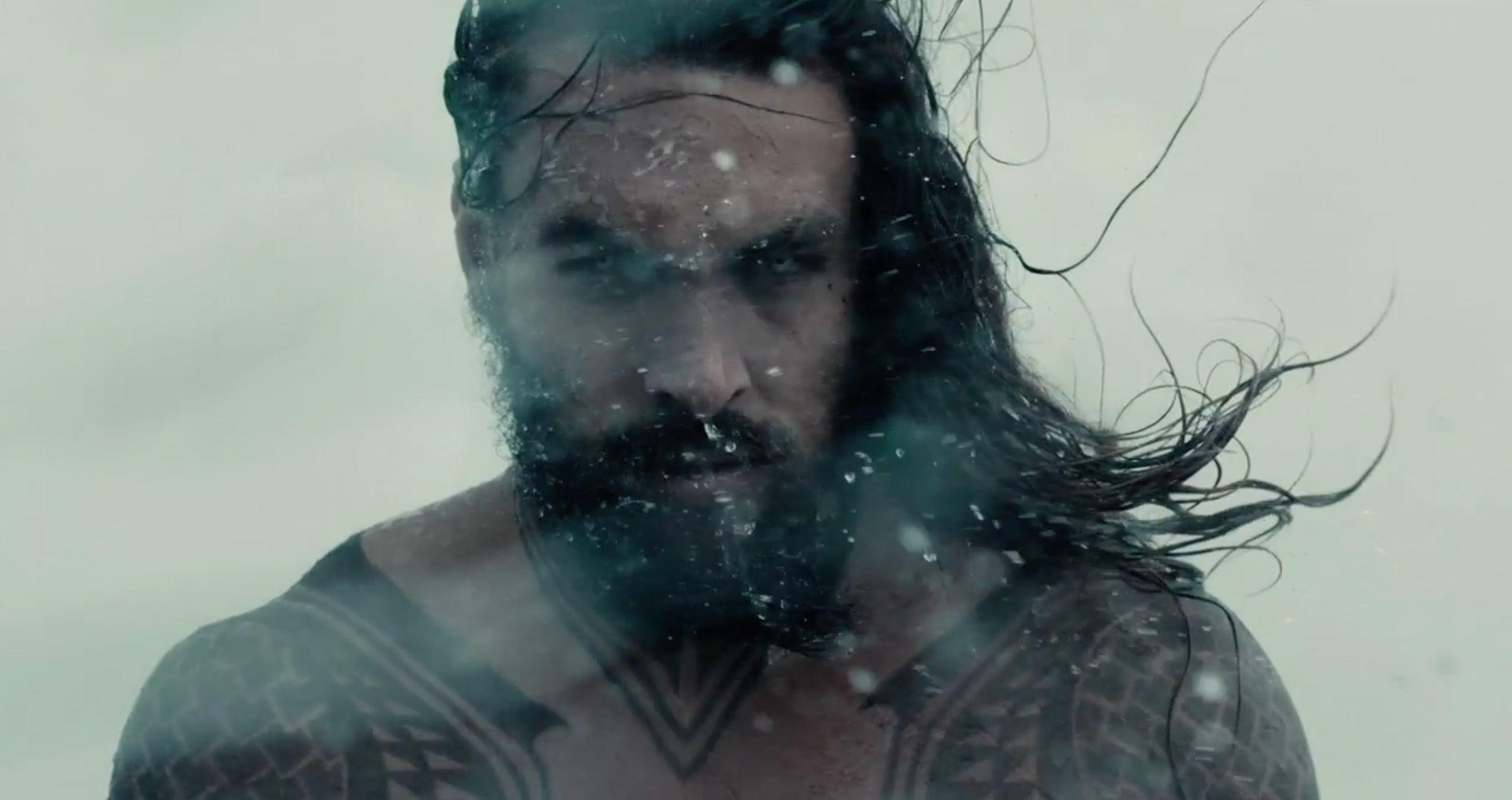 Justice League SDCC Trailer - Aquaman Jason Mamoa