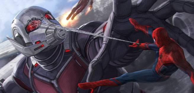 Civil War Spiderman Concept Art