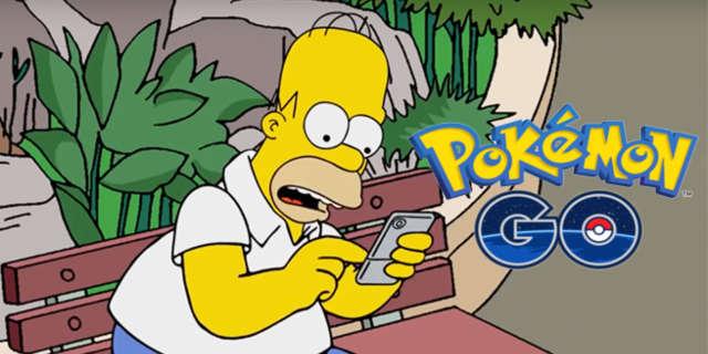 the simpsons pokemon go
