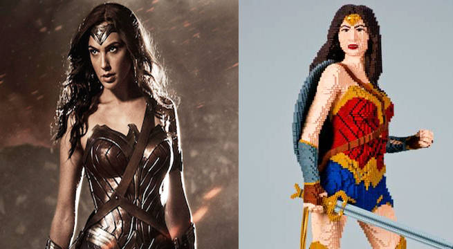 life size wonder woman lego statue to be displayed at comic con - Lego Wonder Woman