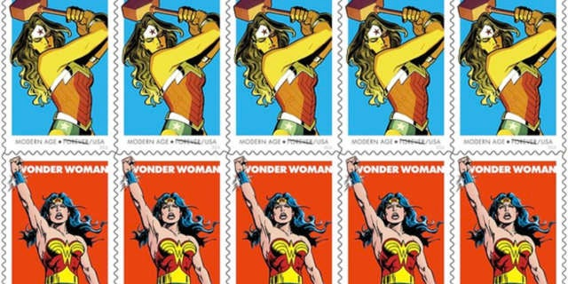 wonder woman stamps slide