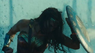 Wonder Woman Trailer Screenshots - Gal Gadot Hero Pose with Shield