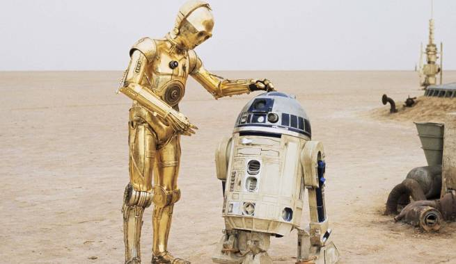 R2d2 And C3po In Movie C-3PO Actor Anthony Da...